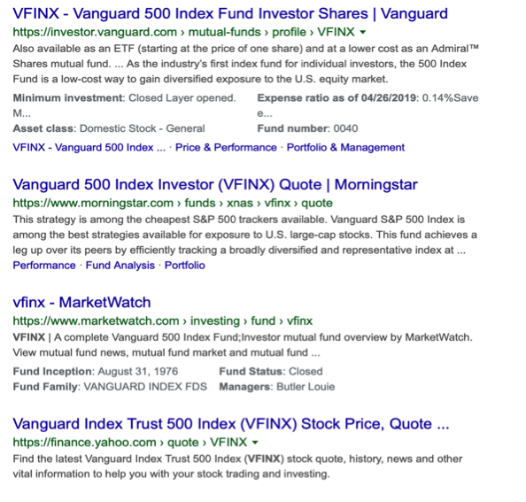 vanguard mutual fund